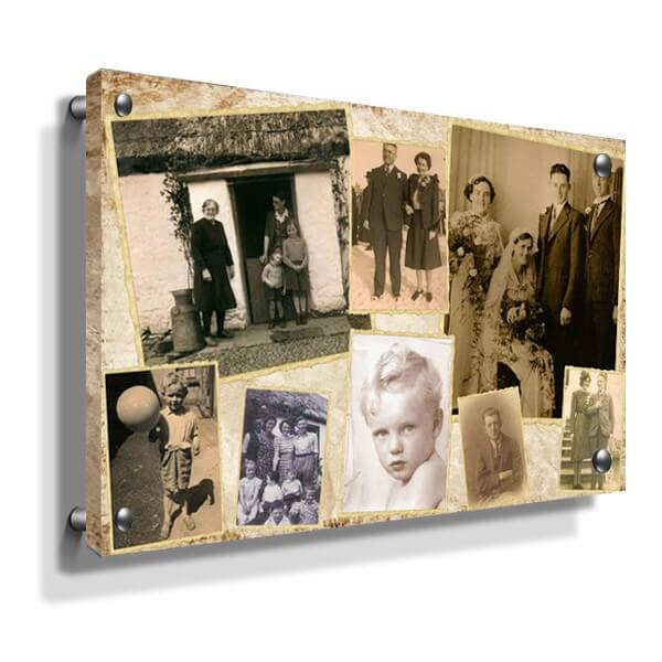 Vintage collage Acrylic Wall Print Ireland