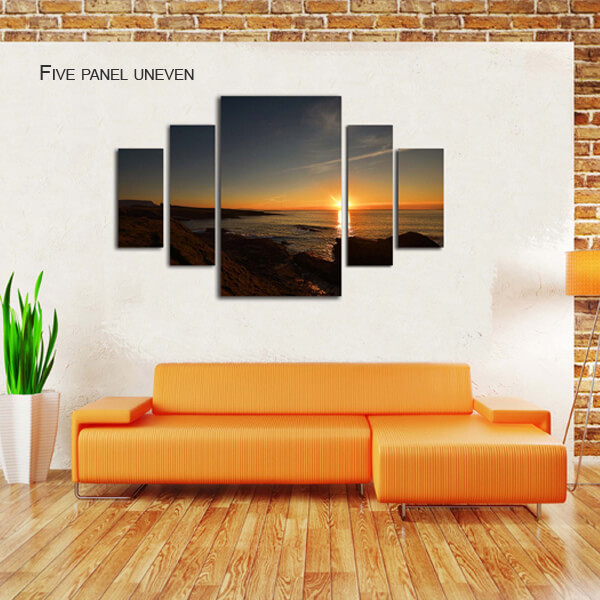 five panel uneven split canvas by Digicreativ