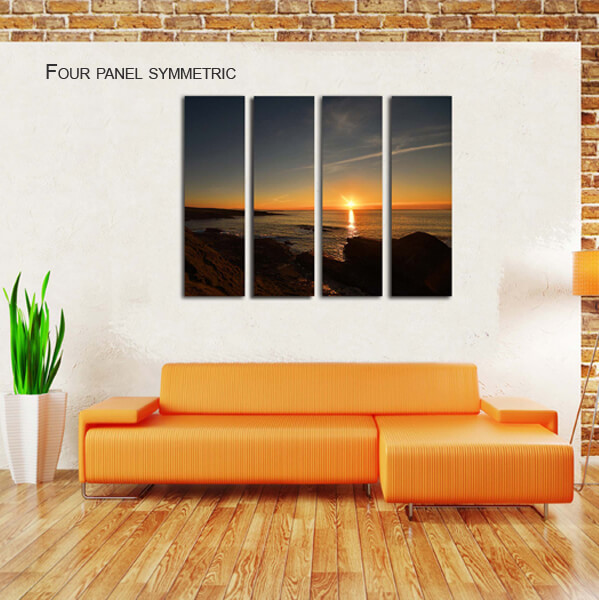 four panel symmetric split canvas by Digicreativ