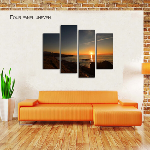 four panel uneven split canvas by Digicreativ