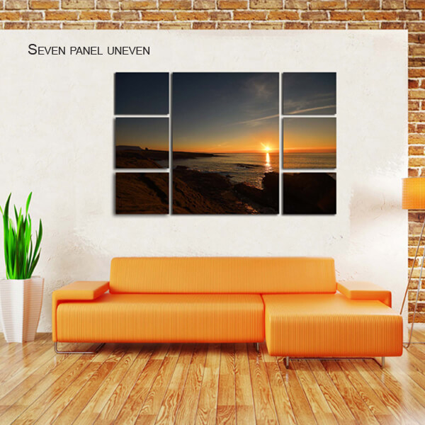 seven panel uneven split canvas by Digicreativ