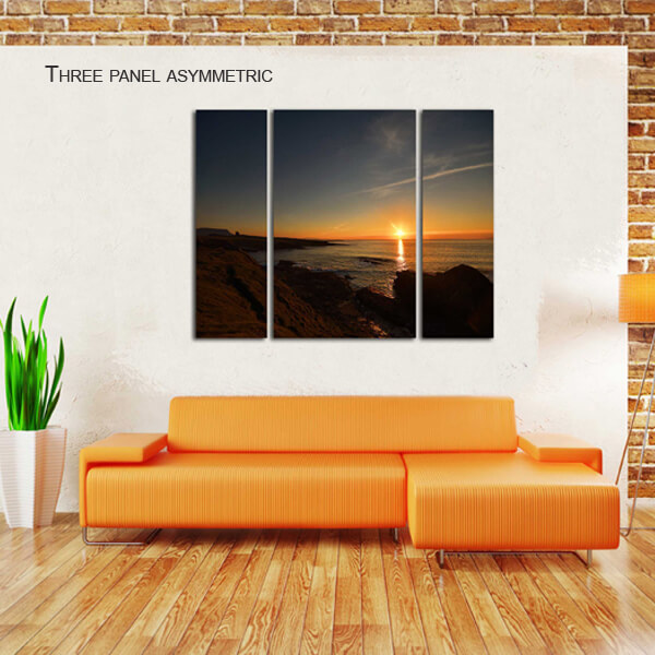 three panel asymmetric split canvas by Digicreativ