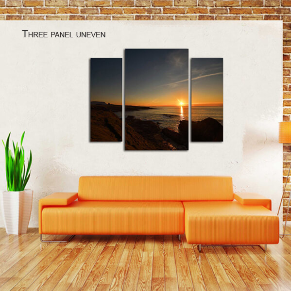 three panel uneven split canvas by Digicreativ