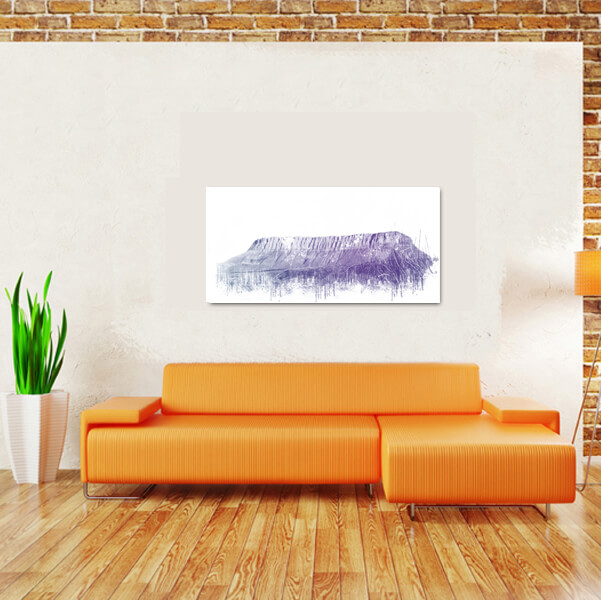 Benbulben sligo artistic above couch
