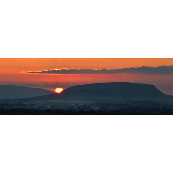 Knocknarea Sunset Panoramic by DigiCreatiV