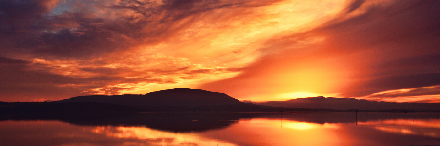 knocknarea sunset rosses point sligo