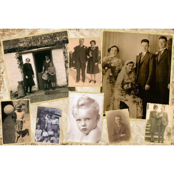 rectangle vintage collage canvas Ireland