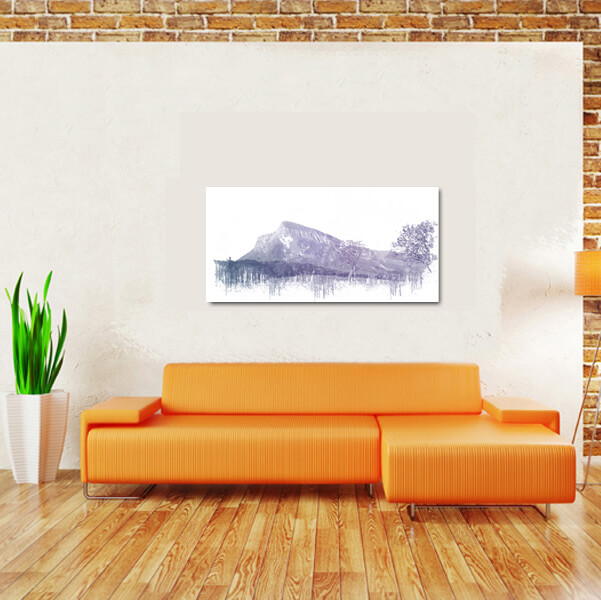 side view of benbulben above couch