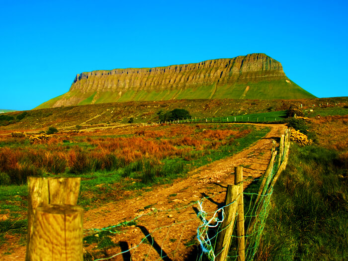 side view of benbulben sligo rectangle